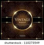 invitation vintage card | Shutterstock .eps vector #110273549