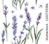violet lavender. seamless... | Shutterstock . vector #1102735586