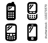 mobile phone icons | Shutterstock .eps vector #110273570
