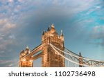 london. stunning view of tower... | Shutterstock . vector #1102736498