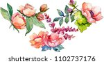 pink bouquet wildflower. floral ... | Shutterstock . vector #1102737176