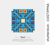 geometric ethnic pattern... | Shutterstock .eps vector #1102739966