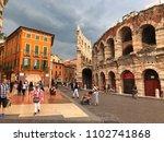 verona italy   9 may  2018 ... | Shutterstock . vector #1102741868