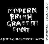 grunge distress font. modern... | Shutterstock .eps vector #1102742270