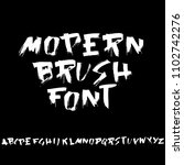 grunge distress font. modern... | Shutterstock .eps vector #1102742276