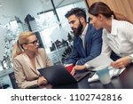 group of business people... | Shutterstock . vector #1102742816