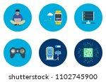technology flat icon design | Shutterstock .eps vector #1102745900