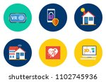 technology flat icon design | Shutterstock .eps vector #1102745936