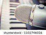microphone in a recording studio | Shutterstock . vector #1102746026