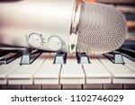 microphone in a recording studio | Shutterstock . vector #1102746029