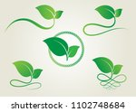 leaf icon vector. logo nature... | Shutterstock .eps vector #1102748684