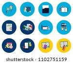 multimedia flat icon | Shutterstock .eps vector #1102751159