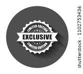 exclusive grunge rubber stamp.... | Shutterstock .eps vector #1102753436