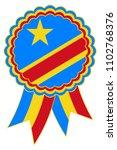 congo award ribbon vector in... | Shutterstock .eps vector #1102768376