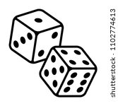 pair of dice to gamble or... | Shutterstock .eps vector #1102774613