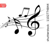 abstract music notes on line... | Shutterstock .eps vector #1102774844