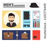 men's accessories  a set of men'... | Shutterstock .eps vector #1102776449