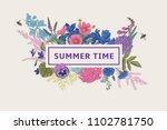 summer time. vector vintage...   Shutterstock .eps vector #1102781750