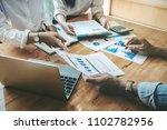 business negotiation concept  ... | Shutterstock . vector #1102782956