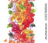 vintage vector floral seamless...   Shutterstock .eps vector #1102783043