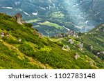 stony mountain landscape with... | Shutterstock . vector #1102783148