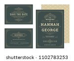 set wedding invitations... | Shutterstock .eps vector #1102783253