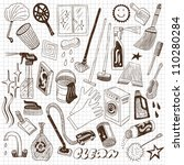 cleaning tools | Shutterstock .eps vector #110280284