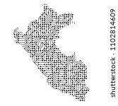 abstract schematic map of perum ... | Shutterstock . vector #1102814609