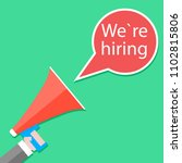 we hiring announcement banner... | Shutterstock . vector #1102815806