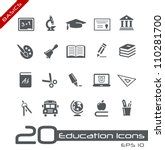 education icons    basics | Shutterstock .eps vector #110281700