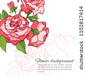 vintage rose. hand drawn vector ... | Shutterstock .eps vector #1102817414