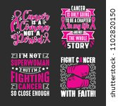 breast cancer quotes saying ... | Shutterstock .eps vector #1102820150