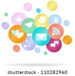 social media and network | Shutterstock .eps vector #110282960