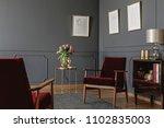 elegant psychologist's office... | Shutterstock . vector #1102835003