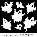 set of halloween  ghosts for...