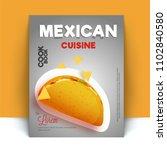 mexican cusine recipe book...   Shutterstock .eps vector #1102840580