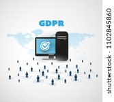 eu general data protection... | Shutterstock .eps vector #1102845860