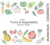 farm vegetables vector poster....   Shutterstock .eps vector #1102846673
