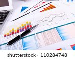 financial paper charts and... | Shutterstock . vector #110284748