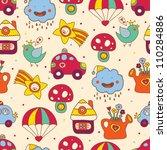 cartoon children's seamless... | Shutterstock .eps vector #110284886