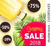 twenty eighteen  summer sale ... | Shutterstock .eps vector #1102851653