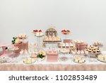delicious wedding reception... | Shutterstock . vector #1102853489