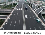 aerial view of highway and... | Shutterstock . vector #1102856429