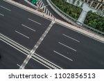 aerial view of empty highway...   Shutterstock . vector #1102856513