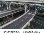 aerial view of empty highway... | Shutterstock . vector #1102856519