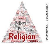 vector conceptual religion  god ...   Shutterstock .eps vector #1102858064
