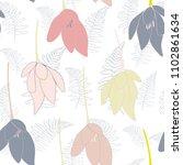 tulips or crocuses vector... | Shutterstock .eps vector #1102861634