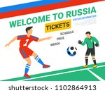 soccer players with football... | Shutterstock .eps vector #1102864913