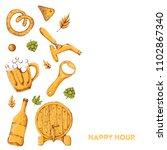 beer banner with sketch mug ... | Shutterstock .eps vector #1102867340
