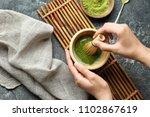 Woman Preparing Matcha Tea ...